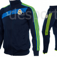 Trening REAL MADRID - Bluza si pantaloni conici - Modele noi - Pret Special - Trening barbati, Marime: S, Culoare: Din imagine