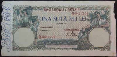 Bancnota 100000 lei - ROMANIA, anul 1946 / Decembrie *cod 64 foto