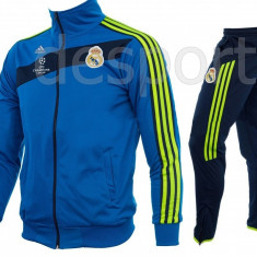 Trening REAL MADRID - Bluza si pantaloni conici - Modele noi - Pret Special - Trening barbati, Marime: S, L, XL, Culoare: Din imagine