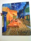 Tablou  Reproducere Van Gogh  cafe terrace 50x63cm ulei pe panza