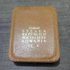 Ordinul Steaua Republicii Socialiste Romania clasa V 5/ in cutie