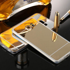 Husa Samsung Galaxy S6 Edge + Plus G928F - Gel TPU Mirror Gold - Husa Telefon