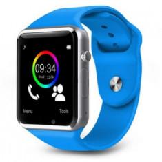Ceas smartwatch cu telefon, SIM T300, bluetooth - compatibil android- ALBASTRU