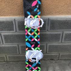 Placa snowboard Trans Rocker 144cm cu legaturi FTWO - Placi snowboard