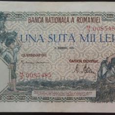Bancnota 100000 lei - ROMANIA, anul 1946 / Decembrie  *cod 66