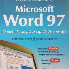 UTILIZARE MICROSOFT WORD 97 - Maloney, Nossiter - Carte sisteme operare