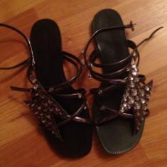 Sandale ZARA - Sandale dama Zara, Culoare: Argintiu, Marime: 36