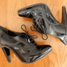 Pantofi Geox Respira piele naturala; marime 37, 10 cm inaltime toc spate; ca noi - Pantof dama Geox, Culoare: Din imagine, Cu toc