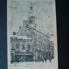 Grus aus Czernowitz (Cernauti) Cafe Habsburg 1903, Circulata, Fotografie