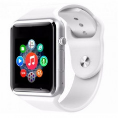 Ceas smartwatch cu telefon, SIM T300, bluetooth - compatibil android- ALB