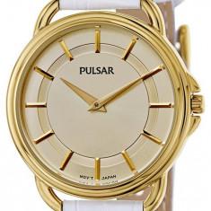 Pulsar PM2136 ceas dama nou 100% original Garantie.In stoc - Livrare rapida., Casual, Quartz, Otel, Piele, Rezistent la apa