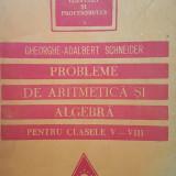 PROBLEME ARITMETICA SI ALGEBRA PENTRU CLASELE V-VIII Gheorghe-Adalbert Schneider - Culegere Matematica