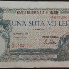 Bancnota 100000 lei - ROMANIA, anul 1946 / Decembrie  *cod 71