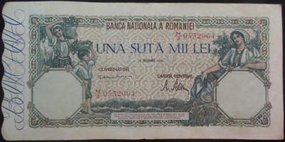 Bancnota 100000 lei - ROMANIA, anul 1946 / Decembrie  *cod 71 foto