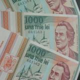 Lot / Set 3 Bancnote Serii Consecutive 1000 Lei- ROMANIA, anul 1993 *cod 605 UNC - Bancnota romaneasca