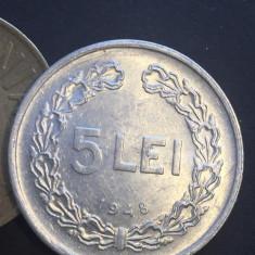 5 lei 1949 UNC - Moneda Romania