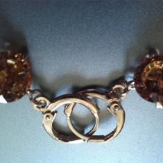 Cercei Gold Filled swarovski - Cercei placati cu aur