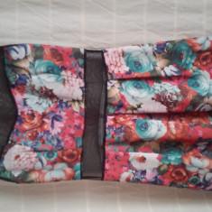 Rochie de zi cu model floral, Marime: 36, Culoare: Din imagine