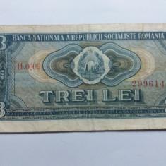 Romania 3 lei 1966