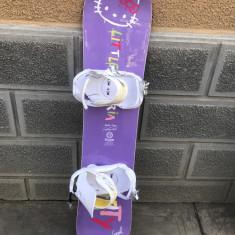 Placa snowboard ARTY Hello kitty 125cm cu legaturi noi rossignol white - Placi snowboard