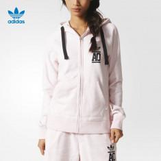 Hanorac Dama Adidas Originals Trefoil COD: AJ7670 - Produs original, factura !, Marime: 34, 36, Culoare: Rose, Bumbac