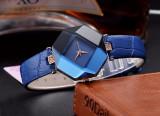Cumpara ieftin NOU Ceas dama tip diamant hexagon strasuri fashion albastru GENEVA curea piele
