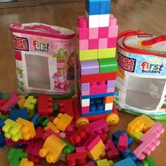 Cuburi constructie MegaBloks (140 piese) - Set de constructie Noriel