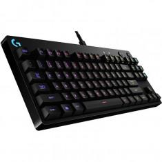 Tastatura gaming Logitech G Pro, Romer-G, Iluminare LED, Negru - Tastatura PC Logitech, Cu fir, USB