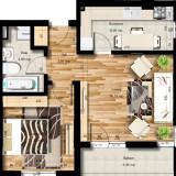 Apartament - Apartament de vanzare, 49 mp, Numar camere: 2, An constructie: 2017, Etajul 5