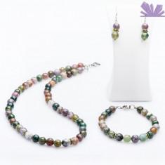 Set Nuala Agat - Colier perle