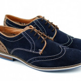 Pantofi barbati casual-eleganti din piele naturala bleumarin 320VEL, Marime: 39, 40, 41, 42, 43, 44