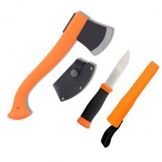 Mora Set Topor / Toporisca 12058 si Cutit Mora 2000 Orange (fluorescent) 12096
