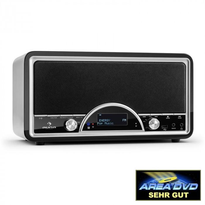 Auna Virginia WH DAB / DAB + Radio Digital Bluetooth USB FM AUX MP3 negru foto mare