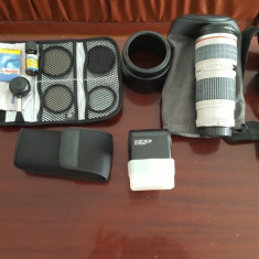 Canon 400D+18-55mm, 70-200mm, 50mm, flash +ghiozdan+accesorii - Aparat foto DSLR