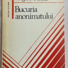EUGEN SUCIU-BUCURIA ANONIMATULUI/DEBUT1979/DEDICATIE-AUTOGRAF PT VALERIU PANTAZI - Carte poezie