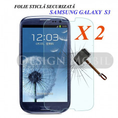 2X FOLIE DE STICLA SAMSUNG GALAXY S3 I9300 TEMPERED GLASS SUPER OFERTA (2 BUC) - Folie de protectie Huawei