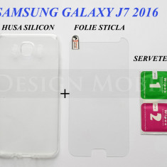 HUSA SAMSUNG GALAXY J7 (2016) SILICON SLIM TRANSPARENTA + FOLIE STICLA ECRAN - Husa Telefon