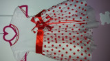 Rochie/rochita fetite cu trena si buline