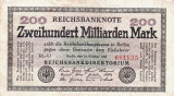 1923 (15 X), 200.000.000.000 mark (P-121c) - Germania! (CRC: 89%)