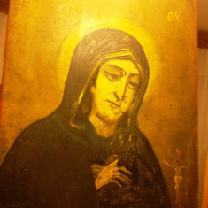 Icoana veche pictata pe lemn - peste 100 ani vechime / ICOANA lemn - Icoana pe lemn