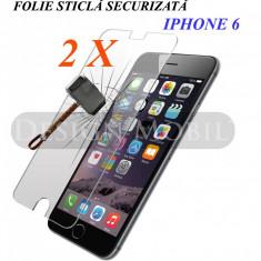 2X FOLIE DE STICLA IPHONE 6 6S TEMPERED GLASS SUPER OFERTA (2 BUC) - Folie de protectie