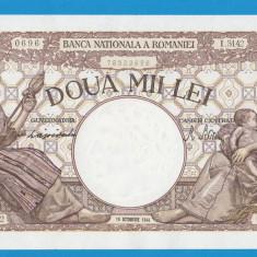 2000 lei 1944 10 Octombrie 8 FILIGRAN TRAIAN - Bancnota romaneasca