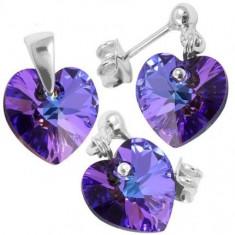 Bijuterii cristale Heart p 10/10 BallPin - Set bijuterii placate cu aur