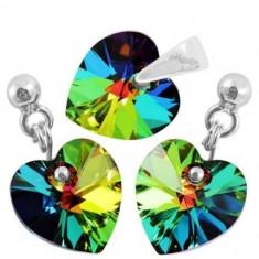 Set bijuterii Heart p 10/10 BallPin - Set bijuterii placate cu aur