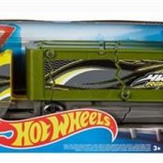 Jucarie Hot Wheels City Crashin' Big Rig Transporteur Super Crash Yellow Truck Mattel