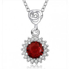 Colier de lux red zirconia - Colier fashion