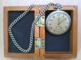 Ceas de buzunar TEGRA (argint) la cutie