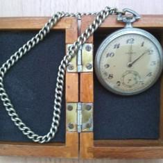 Ceas de buzunar TEGRA (argint) la cutie - Ceas de buzunar vechi