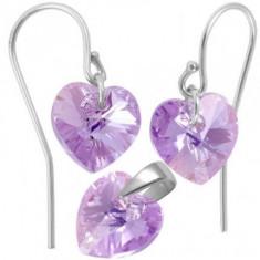 Bijuterii cu cristale swarovski Heart p 10/10 Wire bumb - Set bijuterii placate cu aur