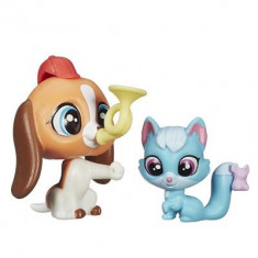 Jucarie Littlest Pet Shop Pet Pawsabilities Otis Beasley & Robin Hunter Hasbro